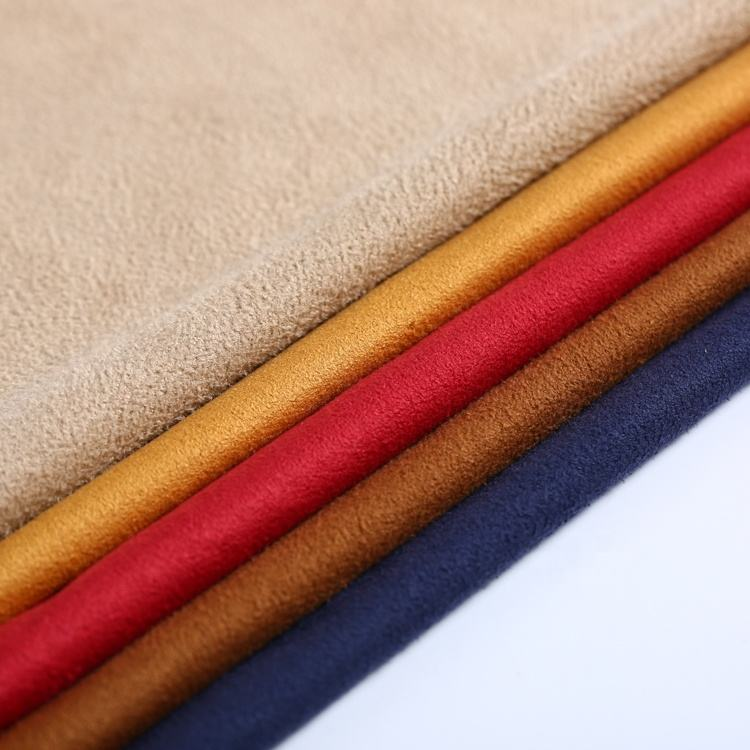 Polyester Suede Fabric China Textiles 170gsm Double Face Faux Stretch Polyester Suede Fabric Fabric