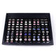 Wholesale Leather Display Cufflink box for 50-pair