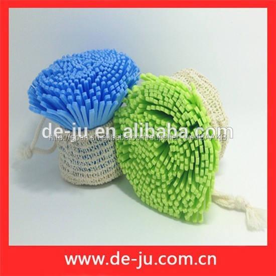 Proporcionar barato colorido Eva flor de la forma del baño con bolas de esponja