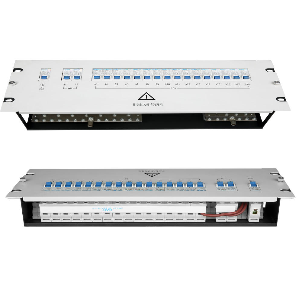 18 channels 32A electrical dc pdu 19 Power distribution box unit electrical panel