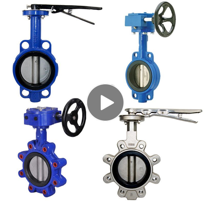 4 10 inch ptfe type Ductile Iron cast iron stainless steel wafer butterfly valve price list