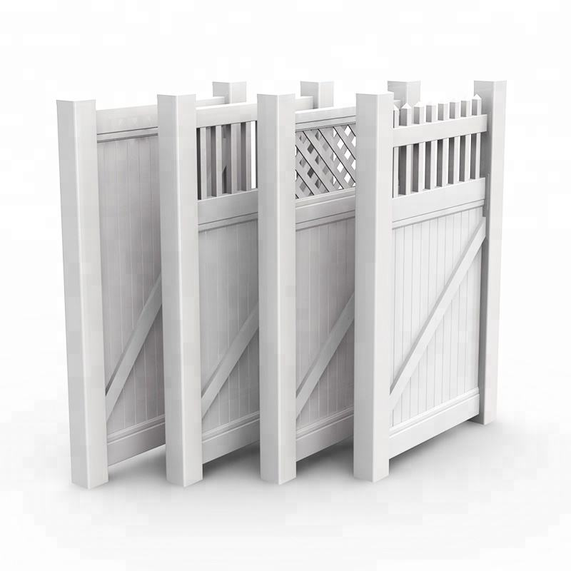 Fentech vinyl fence gate,gates fences,Plastic Vinyl pvc Privacy fencing trellis gates