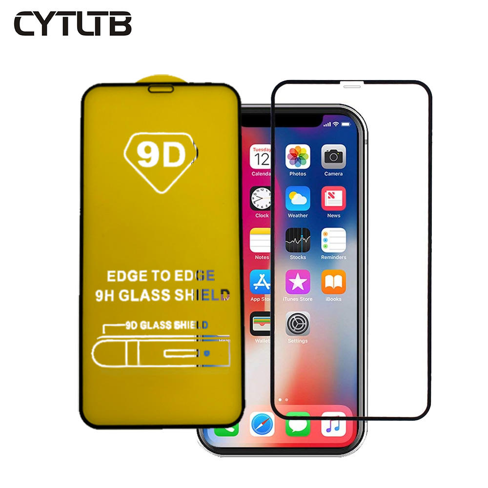 CYTLTB For Iphone X XR XS MAX Screen Protector Tempered Glass 5D 9D Curved Screen Protector For Iphone X Tempered Glass