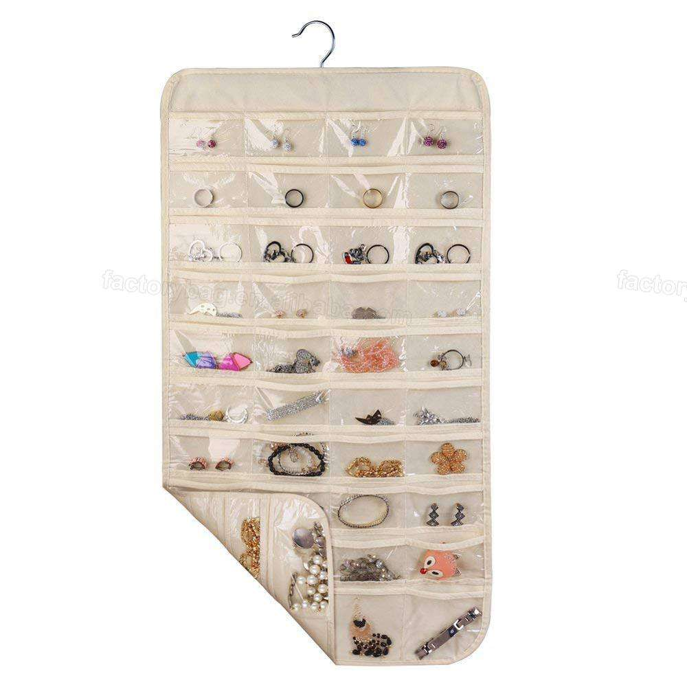 YJB-06 Closet 80 Pocket Organizer Hanging Jewelry Organizer for Holding Jewelries