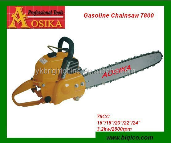 Tree cutting machine chain saw 7800 new model 78CC chainsaw for sale