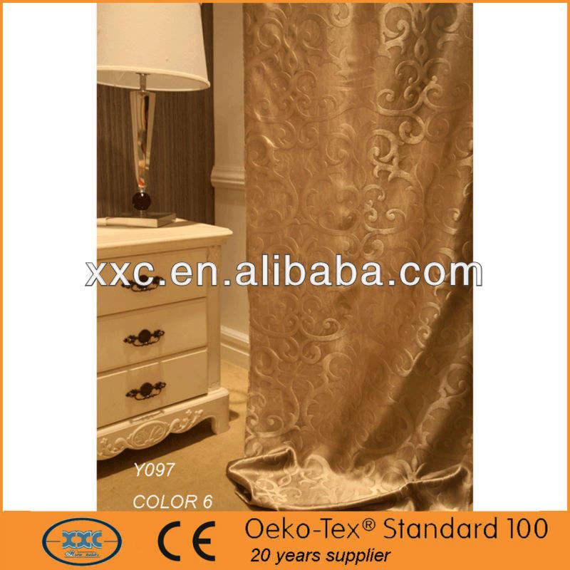china más reciente apagón cortina del telar jacquar
