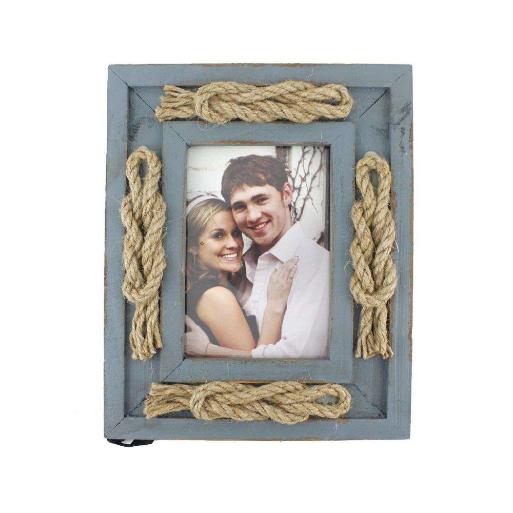 3.5*5 Blue Beautiful Wedding Wood Photo Frames Horizontal or vertical display