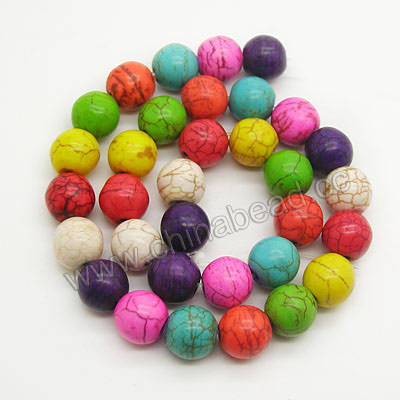 Wholesale dyed howlite 4mm dyed round howlite beads