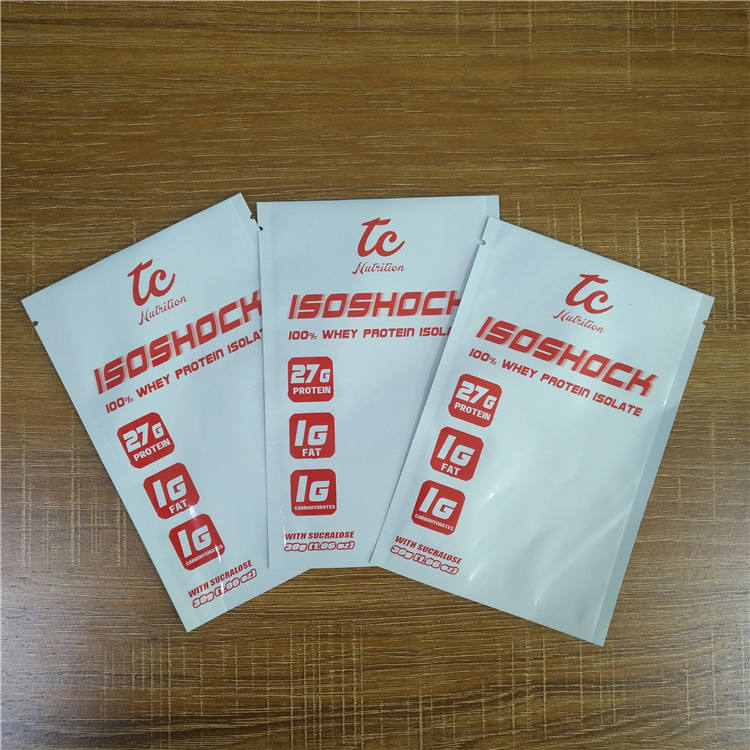 Digital printed small sachet powder package foil whey protein packaging bags