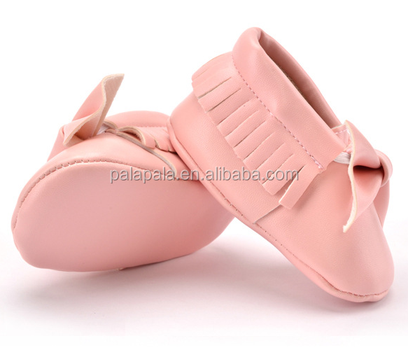 Pure Color PU Leather Tassels Baby Casual Shoes Soft Sole Infant Baby Kids Walking Shoes Toddler Baby Dropship Custom Logo Shoes