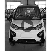 4 Wheel Electric Mini Car For Adults Solar Sports Car In CKD