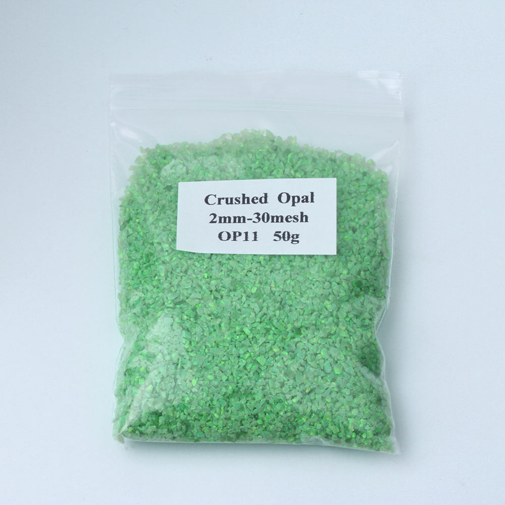 2mm 30 Mesh Man Made Crushed Opal , Synthetic Opal Chips, 78 Colors Fire Opal Crush