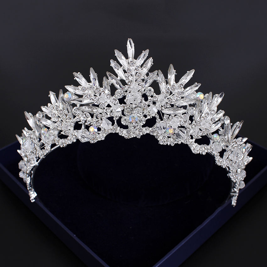 Hot sale wedding gift set bridal tiara crown wholesale customize jewelry fashion hair accessories for girls
