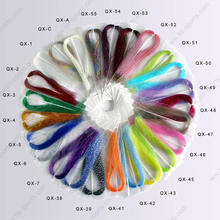 Crystal Flash Fly Tying Yarn Material with Different Colors and Flexible MOQ (B15)