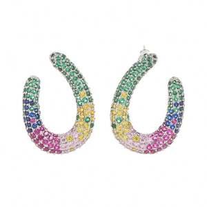 wholesale colorful jewelry U shaped earrings Fashion Women's Drop Earrings