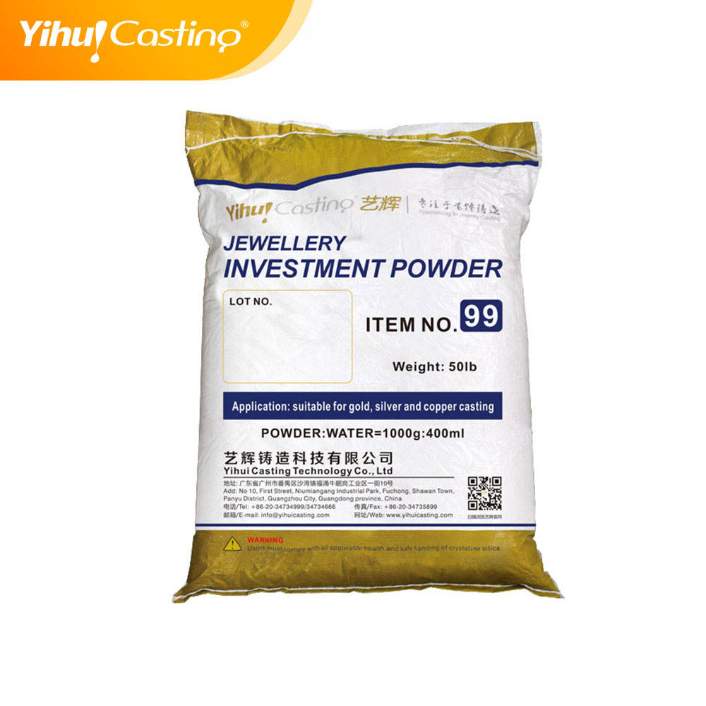Yihui brand 99 Investment Powder suitable for gold casting,jewelry casting powder