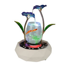Glass Goldfish Tank Living Room Creative Small Running Water Home Decoration Office Table Gift Ceramic Aquatic Pet Residence