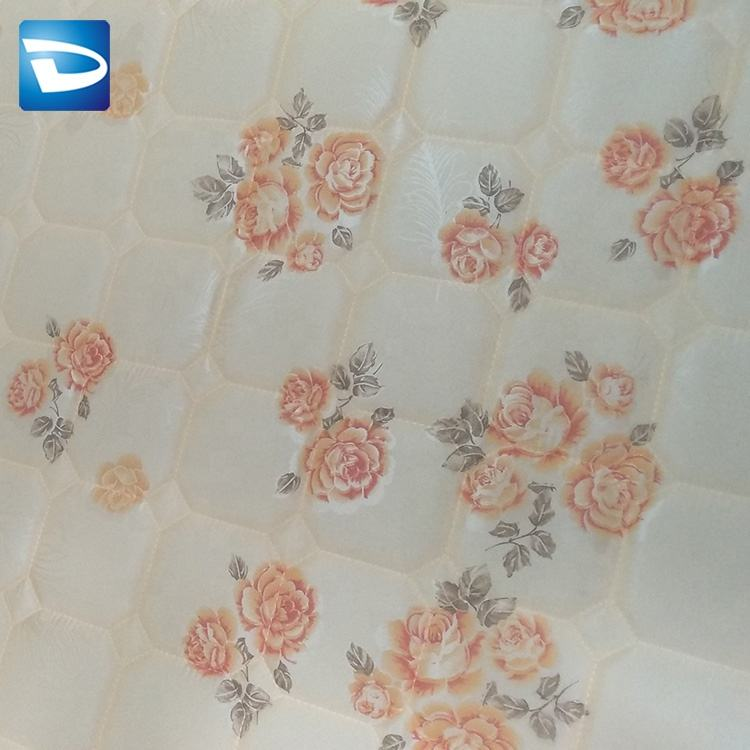 Custom knitted tricot flower pattern quilting fabric for mattress factory JFQ014