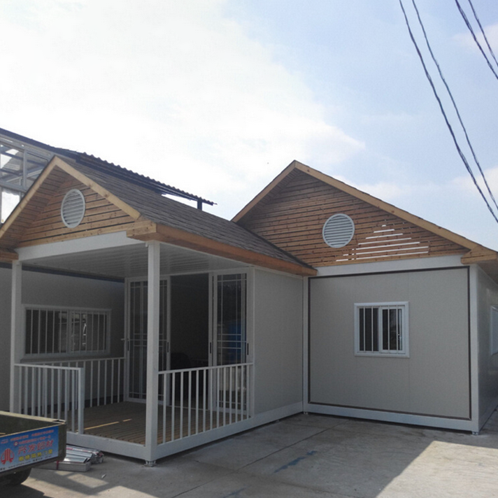 Cheapest prefabricated temporary building steel frame house Philippines