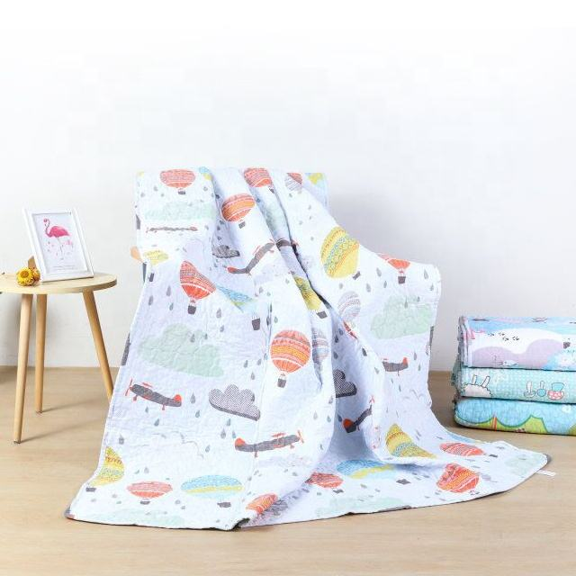 100% Cotton Children Patchwork Cover Quilted Bedspread Play Mat Quilting Fabric Made In China Wholesale Summer Baby Quilt