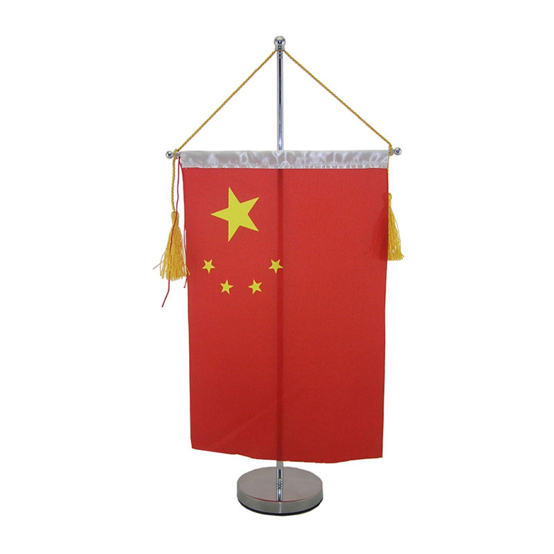 TF-002 Novelty Factory Price Desk For All Country Desktop Table Flag With Pole And Base Table Flag Stand