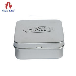 Wholesale Seamless Square Soap Tin Box Customized Design Square Metal Soap Tin Box