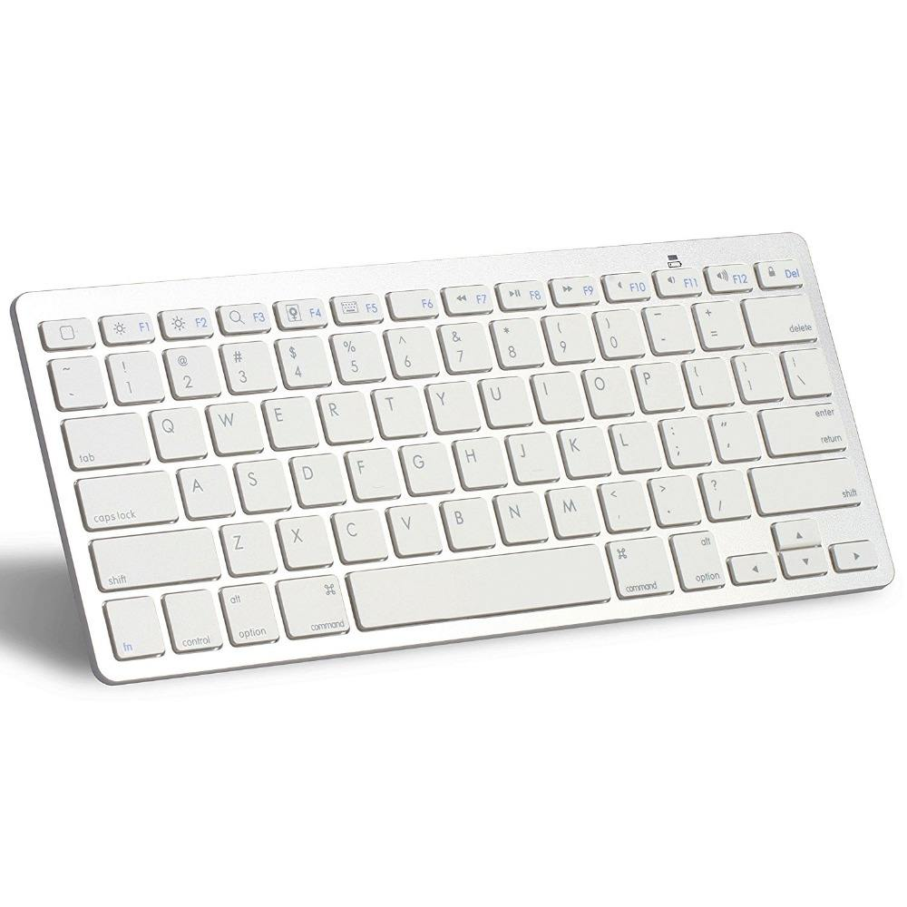 <span class=keywords><strong>Keyboard</strong></span> Bluetooth Nirkabel Abs Portabel Ramping untuk Mac PC iPhone iPad IOS Android Windows