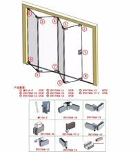 Glass folding door hardware folding door