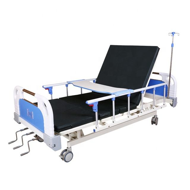 3 crank function manual hospital adjustable composite health medrical bed from china