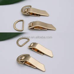 Special Unique metal hook and D ring dress open/close hook and ring gold color HE-025A