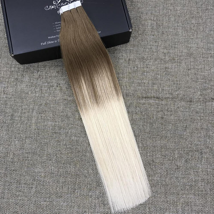 Silky Straight 10A Grade russian double drawn italy remy super tape hair extensions