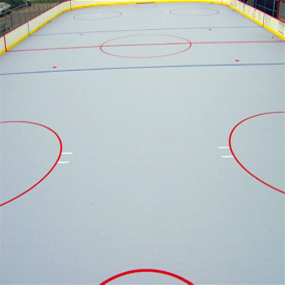 HDPE material synthetic ice skating rinks for indoor park