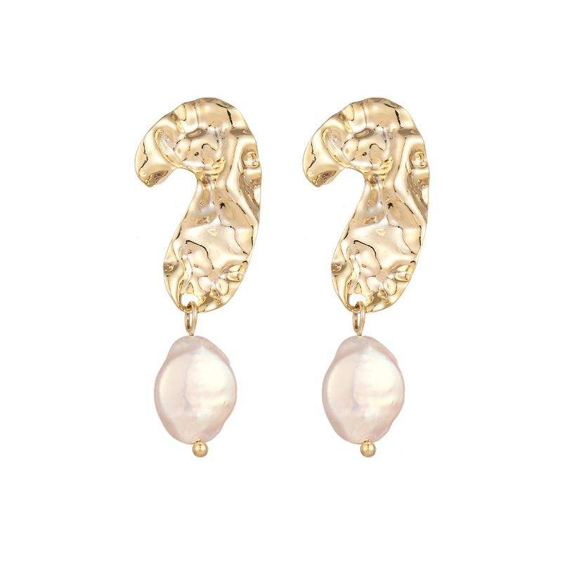 2019 March Expo Natural Freshwater Pearl Dangle Earring Question Mark Shape S925 Sterling Silver Pearl Earring