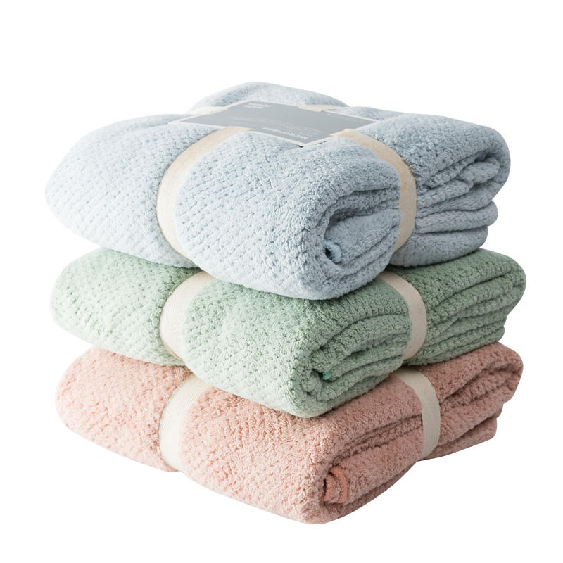 Hot sale coral fleece microfiber bath towel for home