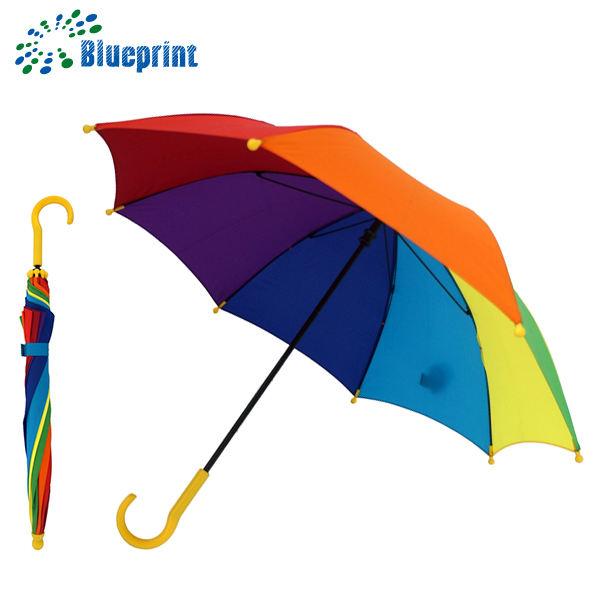 7 Renkler emniyet hgih kalite fantezi gökkuşağı küçük çocuk hediye şemsiye