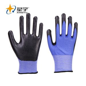 Safety Gloves Nitrile Xingyu Polyester Safety Hand Gloves Nitrile Work