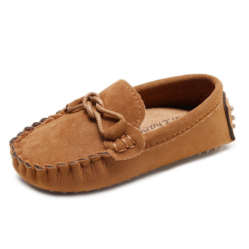 Hot Selling slip on baby toddler moccasin soft casual boat peas shoes leather kids shoes