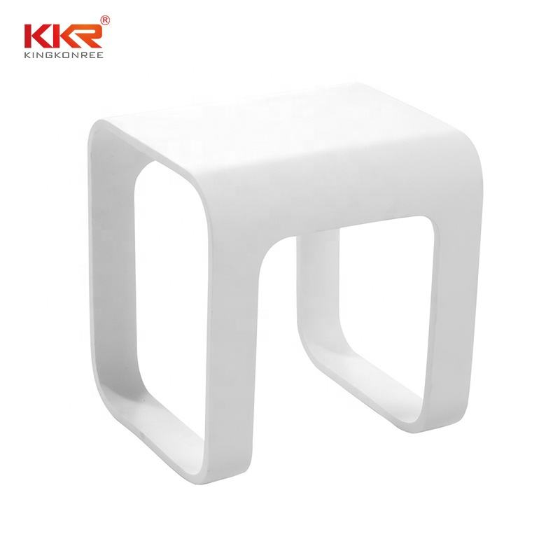 KKR stone resin shower stool, aluminum shower stool
