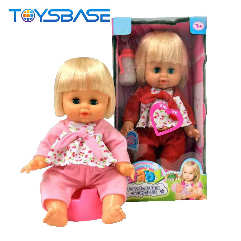 14 Inches Silicone Toy Popular Girl Pee Vinyl Baby Doll For Kids