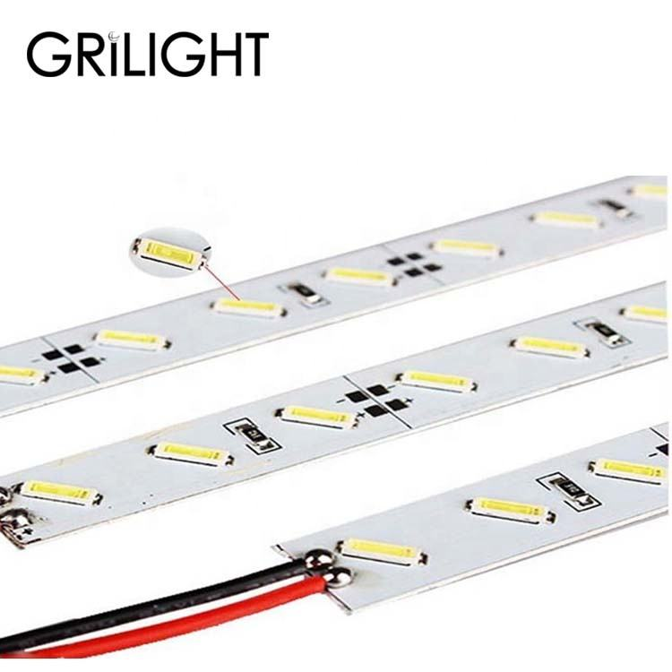 led rigid strip aluminum 50 cm 3014 7020 2835 smd dc 12v led hard strip