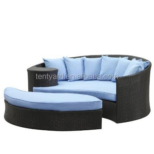 High quality giant outdoor replacement patio round daybed cushion