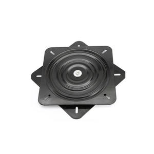 10 inch 254mm Black Surface Square Swivel Plate Turntable Bearing 360 Degree Rotation