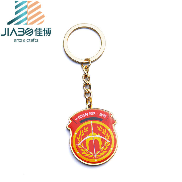 custom metal crafts firemen epoxy resin key chain awards free samples