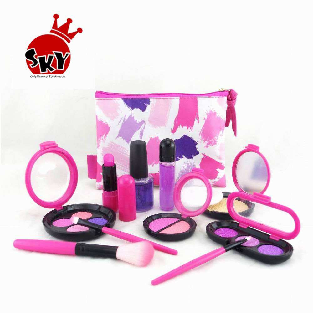 ! Neue design pretend make-up set für mädchen machen up spielzeug pixie pretend make-up spielen deluxe set für kinder make-up kinder