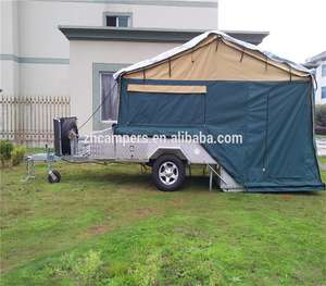 Australia standard off road hard floor camper trailer with 14 oz tent and kitchen system