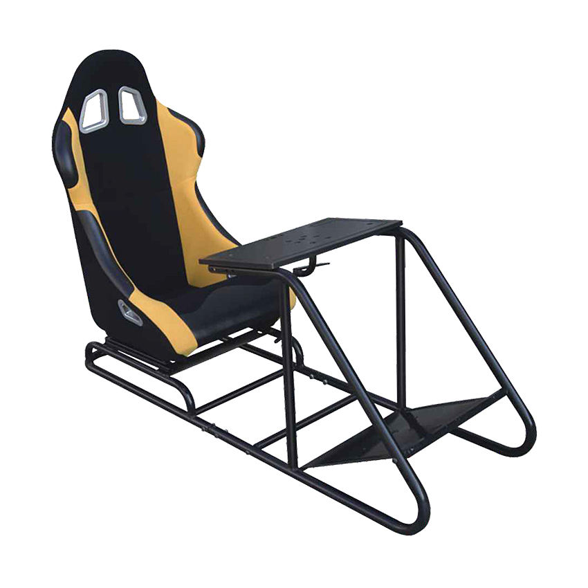 Racing play gaming seat with gear shifter holder