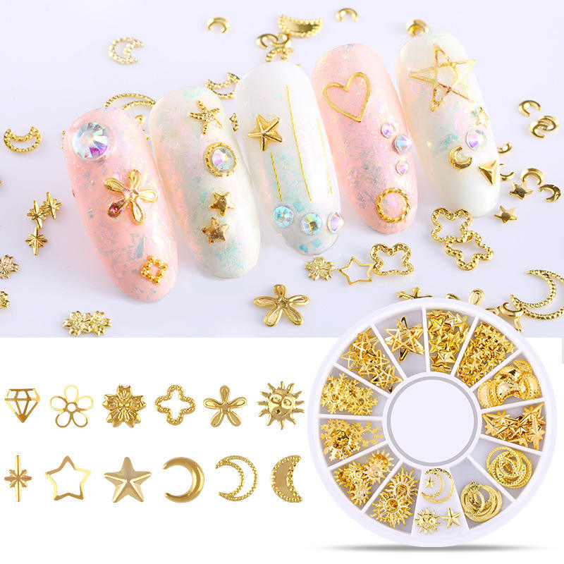 Hot Selling Christmas Nail Decoration 3D Nail Art Design Decoration 3d Metal Nail Decal for sale