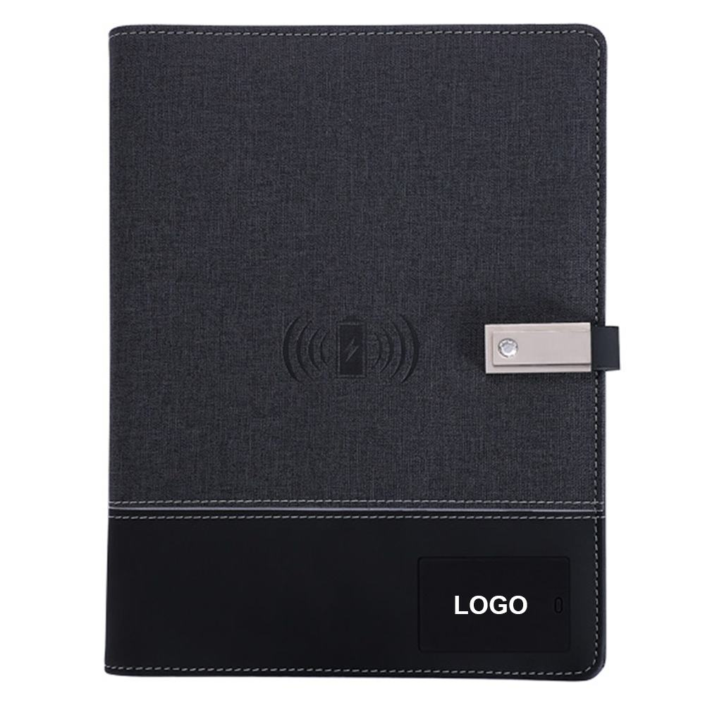organizer pu leather USB 16GB powerbank 8000Mah a5 planner dairy notebook