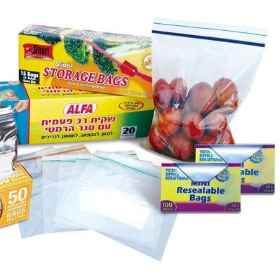 LDPE custom size moisture proof double ziplock bag in colored box