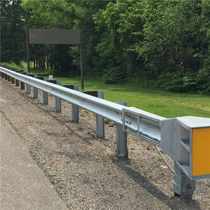 high security fence metal beam crash barrier with W beam for road
